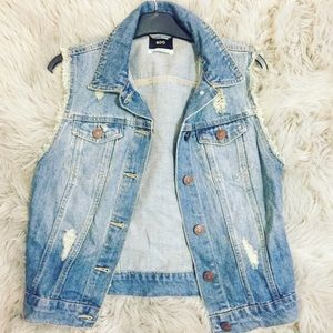 Urban Outfitters Jean Jacket Vest